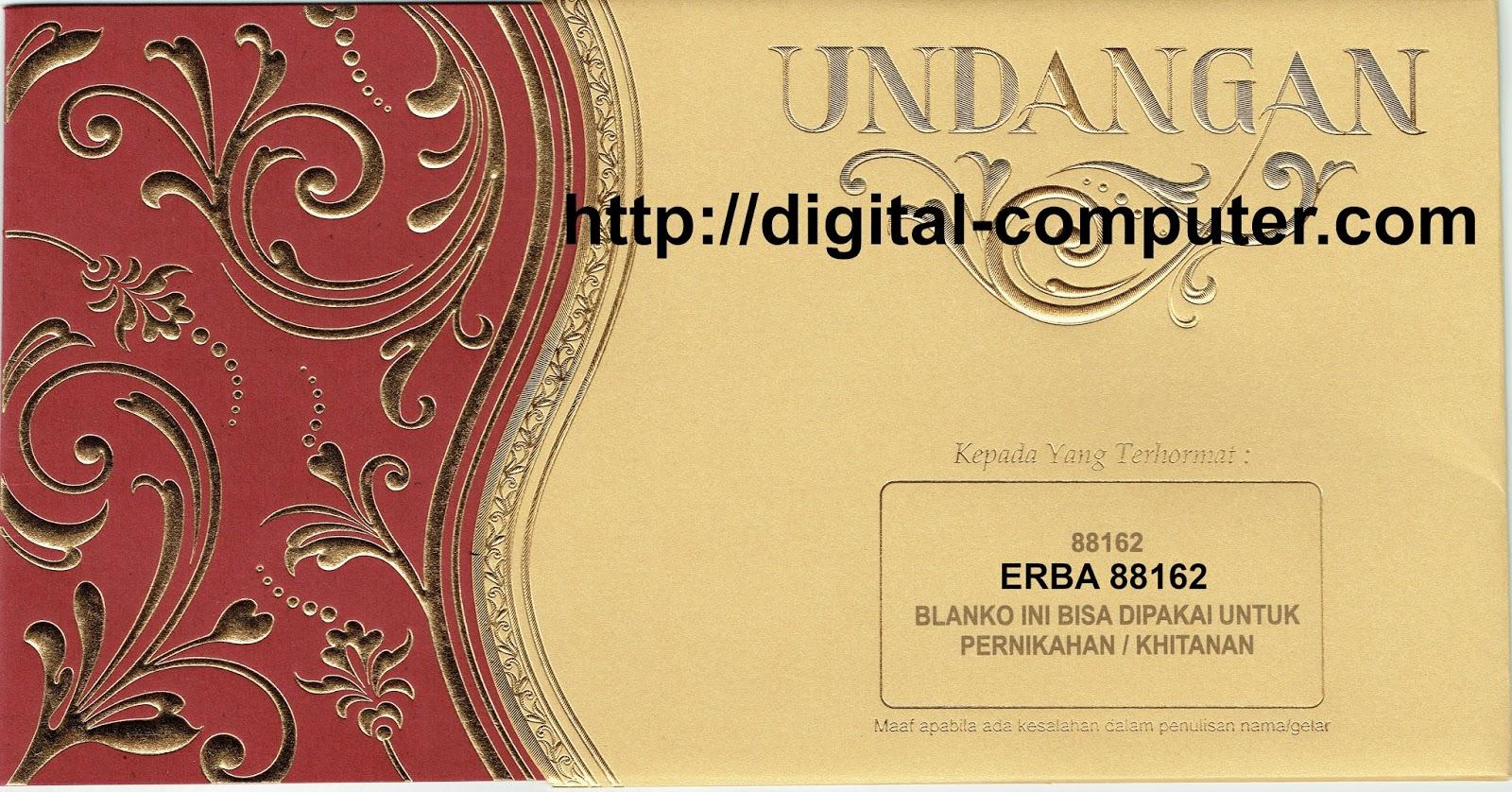 Undangan Softcover ERBA 88162