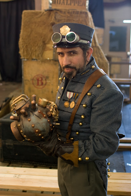 Robur the Conqueror cosplay (jules verne character from the clipper of the clouds and master of the world) Men's Steampunk cosplay clothing and fashion