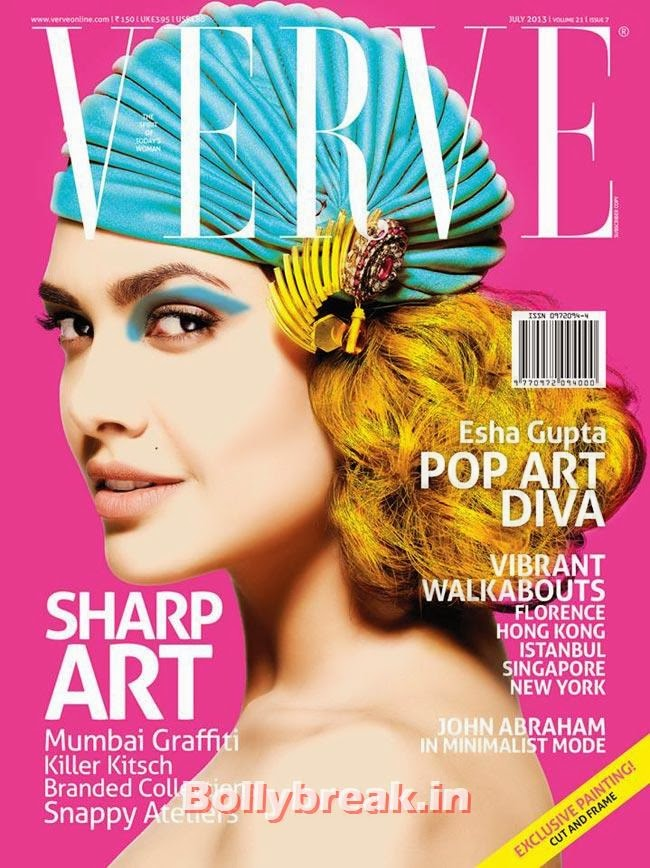 Esha Gupta on Verve cover, The Hottest cover girls of 2013