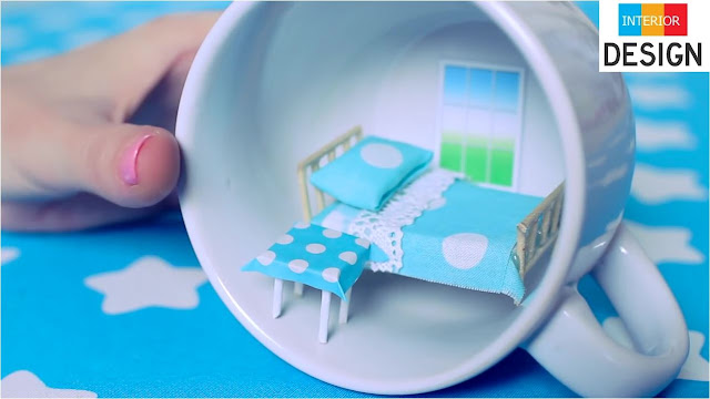 DIY Miniature Bedroom In A Cup