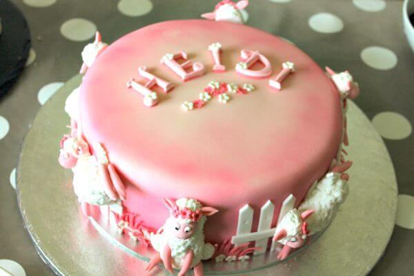 Heidi Christening Cake