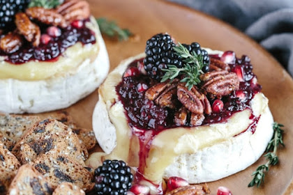 Baked With Blackberry Candied Pecans