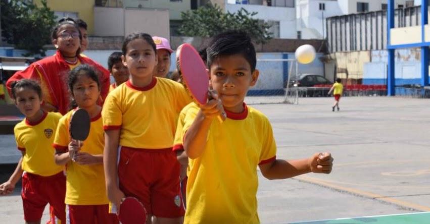 JUNÍN: 6 mil alumnos de Satipo se beneficiarán con programa de ping pong