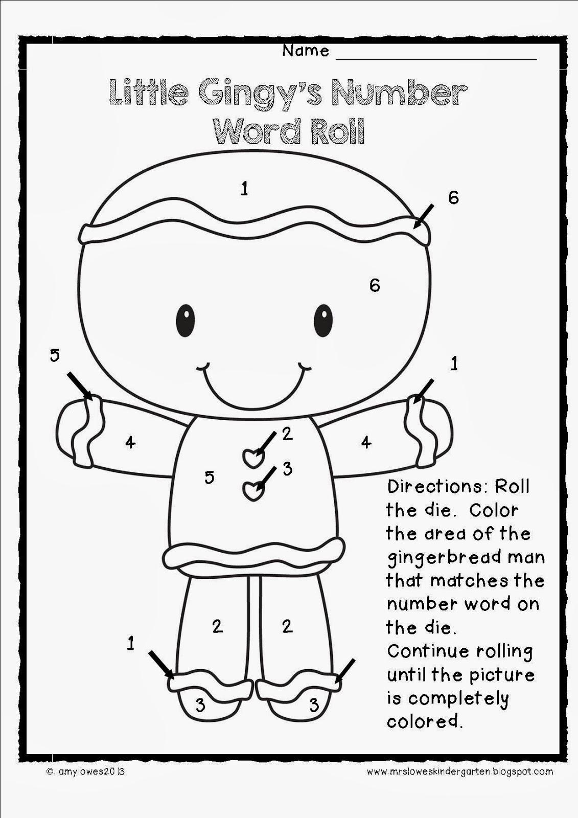 Mrs. Lowes' Kindergarten Korner: Gingerbread Man Plans