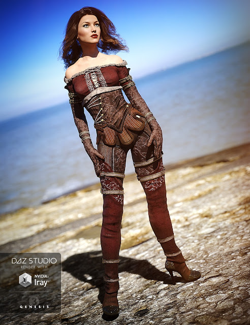 Knight Winds Outfit for Genesis 3 Female