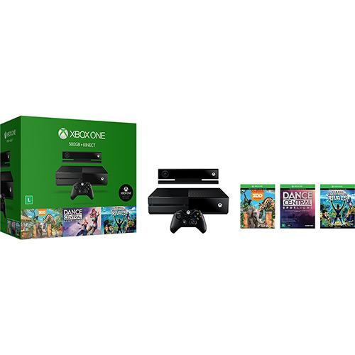 Console Xbox One 500GB Sensor Kinect Controle sem Fio 3 Jogos