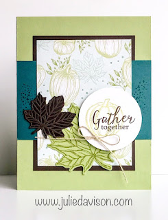 Stampin' Up! Gather Together Card ~ Autumn ~ 2019 Holiday Catalog ~ Stamp of the Month Club Card Kit ~ www.juliedavison.com #stampinup