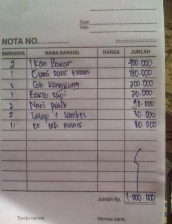 Nota Warung Makan Anyer