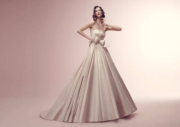 abito da sposa rosa, collezione Alessandra Rinaudo 2014