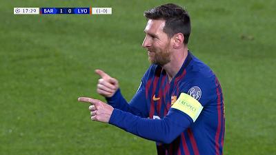 UCL-16 Barcelona 5 vs 1 Lyon 13-03-2019