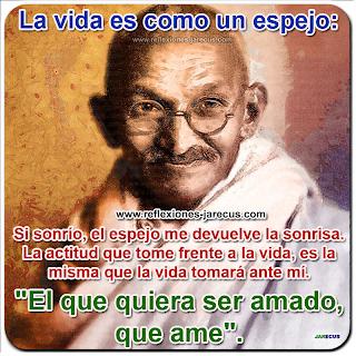 Le preguntaron a Mahatma Gandhi: ¿Cuáles son los factores que destruyen al ser humano?  Él respondió así: La Política sin principios,  El Placer sin compromiso,  La Riqueza sin trabajo,  La Sabiduría sin carácter,