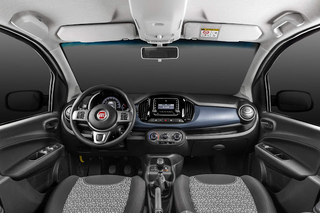 Novo Fiat Uno 2017 Attractive - interior