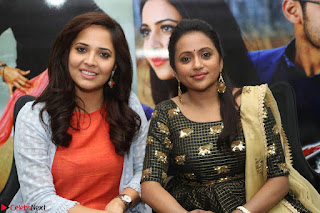Actress Suma in Black Salwar Suit and Anusuya in orange Dress at winner movie press meet part 2 February 2017 (71).JPG