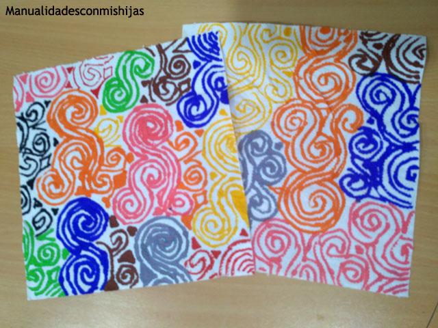 Colorear-papel-de-cocina-rotuladores