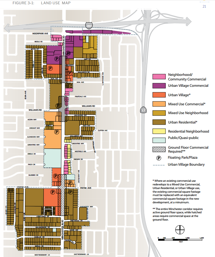 Santana Row Map The San Jose Blog: Urban Villages are on the way!
