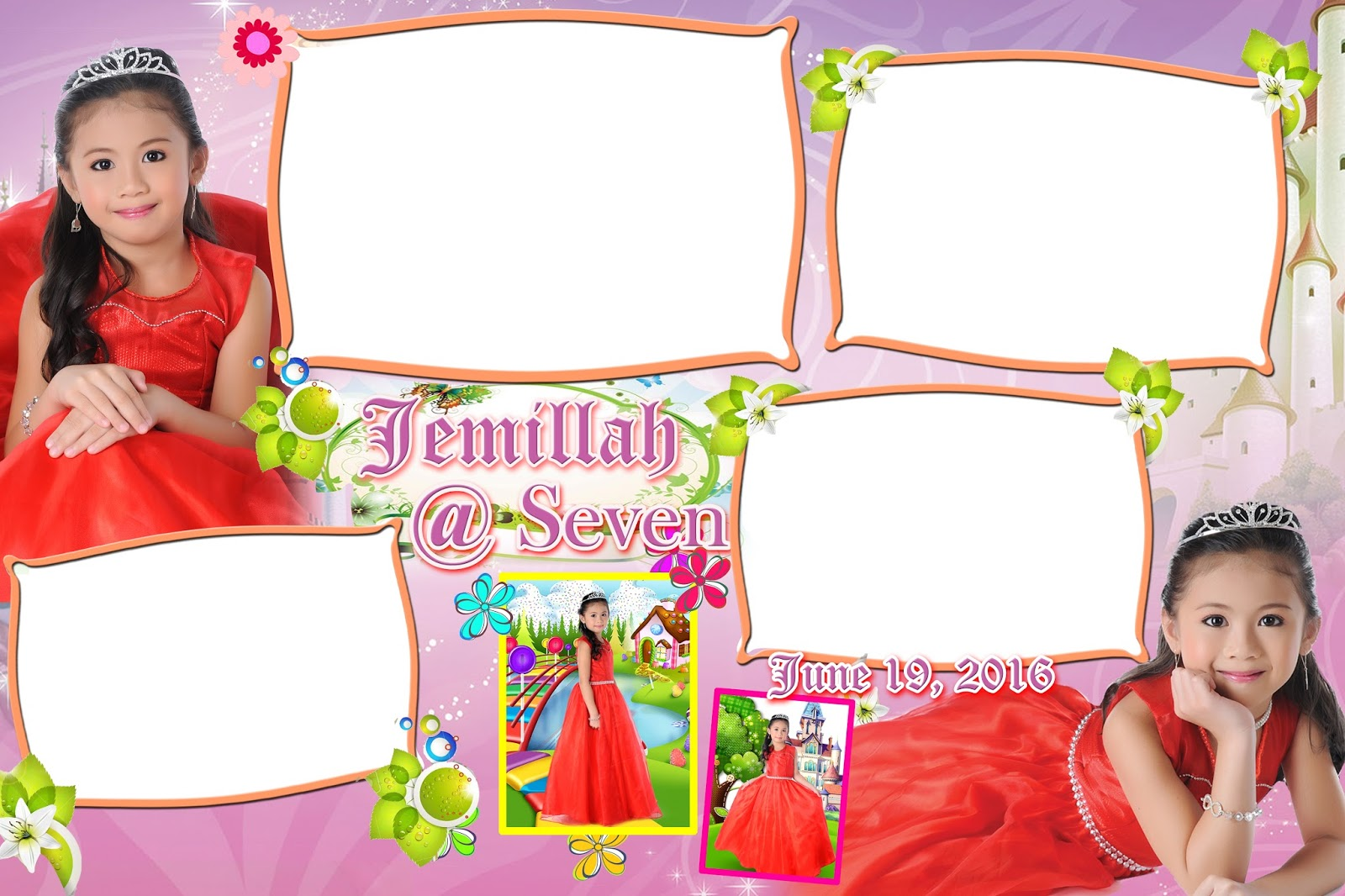 So Cute Photo Booth Template For Seventh Birthday Get Layout