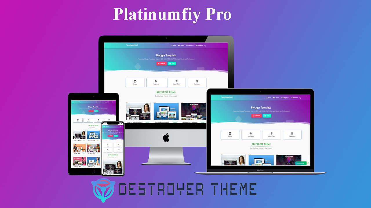 Platinumfiy Pro Blogger Theme