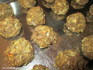 Veg Meatballs on Tray in Oven