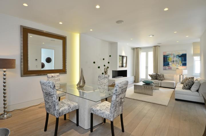 Casas minimalistas y modernas livings comedores modernos - Decoracion de comedor moderno ...
