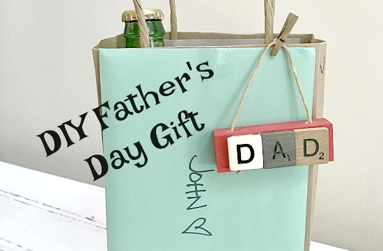 DIY Father's Day Scrabble Ornament Tags