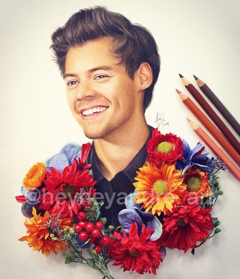 10-Harry-Styles-One-Direction-A-Manguba-Drawings-of-Celebrities-and-the-Zodiac-www-designstack-co