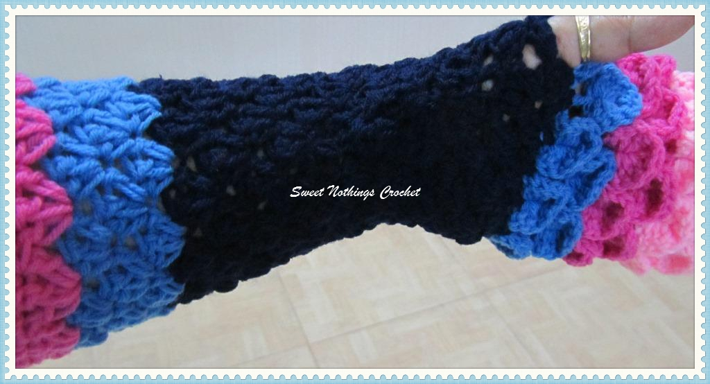 Sweet Nothings Crochet Beautifully Scaled Fingerless Gloves