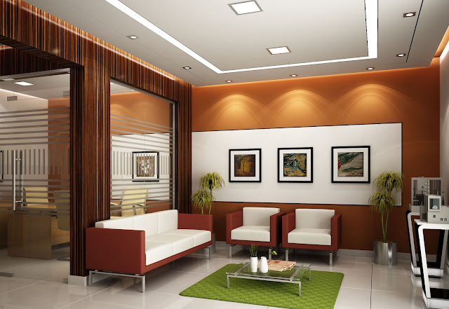 luxury modern office waiting area design idea