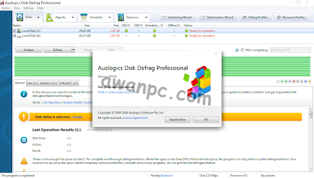Download Auslogics Disk Defrag PRO 4.8.0.0 Full Keygen Terbaru