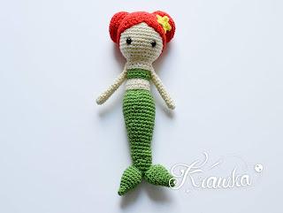 Krawka: Little mermaid doll with rattle pattern by Krawka,