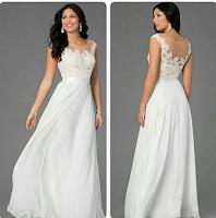 Gaun Pesta Brokat Putih