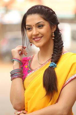 yellow half saree