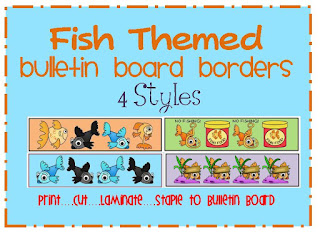 fish bulletin board borders