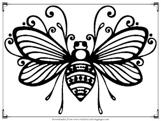 detailed bee adults printable coloring pages