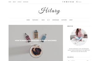 Hilary Blogger Template