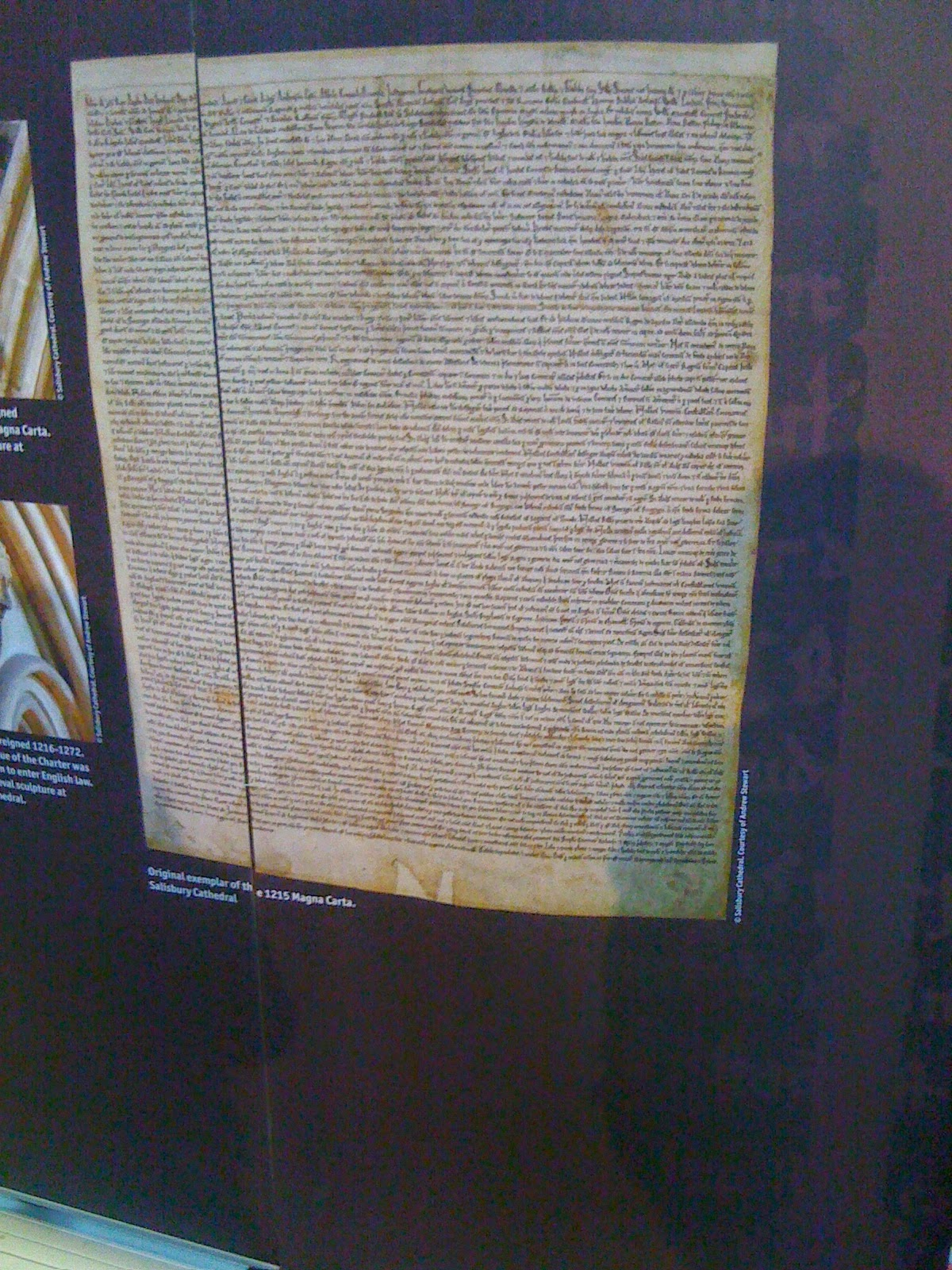 Magna Carta Salisbury Cathedral