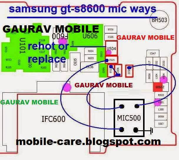 Samsung GT-S8600 Mic Solution Jumper Ways - MobileRdx24
