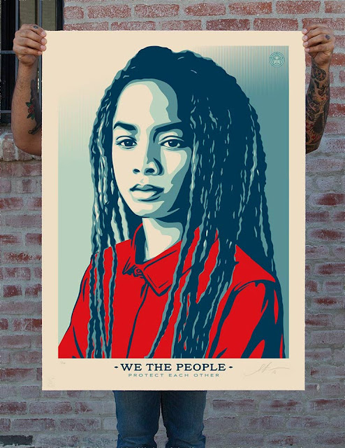 Shepard Fairey. We The People. photograph by Arlene Mejorado