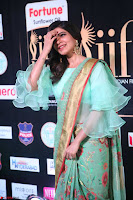 Samantha Ruth Prabhu Smiling Beauty in strange Designer Saree at IIFA Utsavam Awards 2017  Day 2  Exclusive 51.JPG