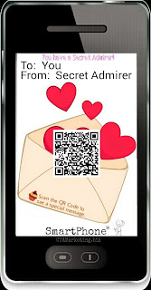 Generate QR Code Valentines Day cards