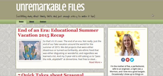 It's 7 Quick Takes Friday! How was your week?  {posted @ Unremarkable Files}