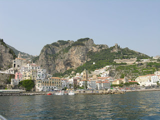Today Amalfi is a tranquil town with a peaceful harbour - a  far cry from the devastation of 1343
