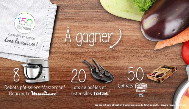 Jeu Concours 150 ans de Nestlé avec 78 lots à gagner !