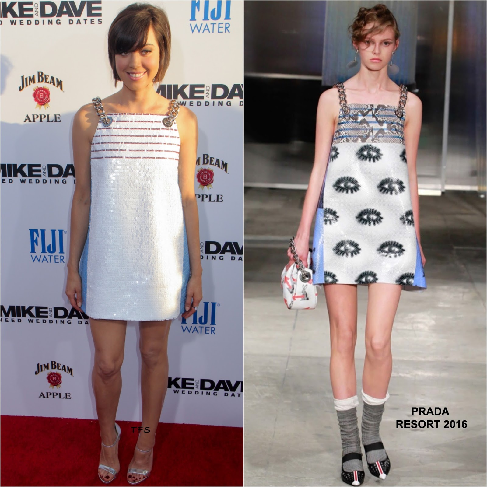Mike And Dave Need Wedding Dates Plugged In: Aubrey Plaza In Prada At The 'Mike And Dave Need Wedding