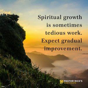 Create a Spiritual Growth Chart by Rick Warren