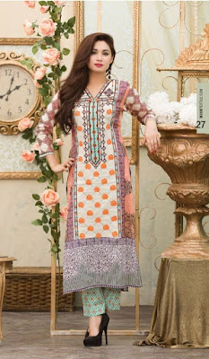 Batik embroidered summer lawn dresses 2017