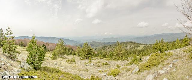 View from Macedonian / Greek border line toward Mariovo / Macedonia.