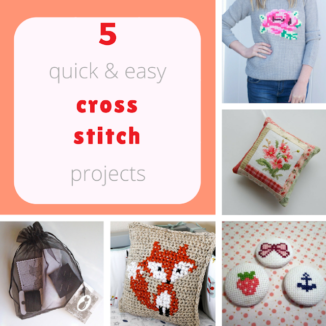 5 quick and easy cross-stitch projects