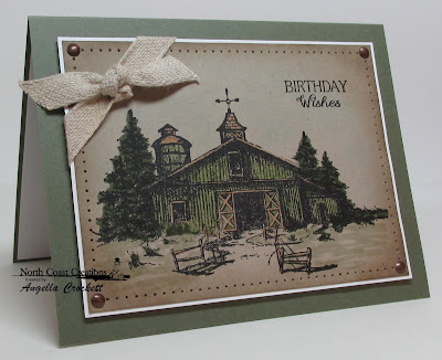 "North Coast Creations ""Barn"" and ""Find Beauty"" Card Designer Angie Crockett"