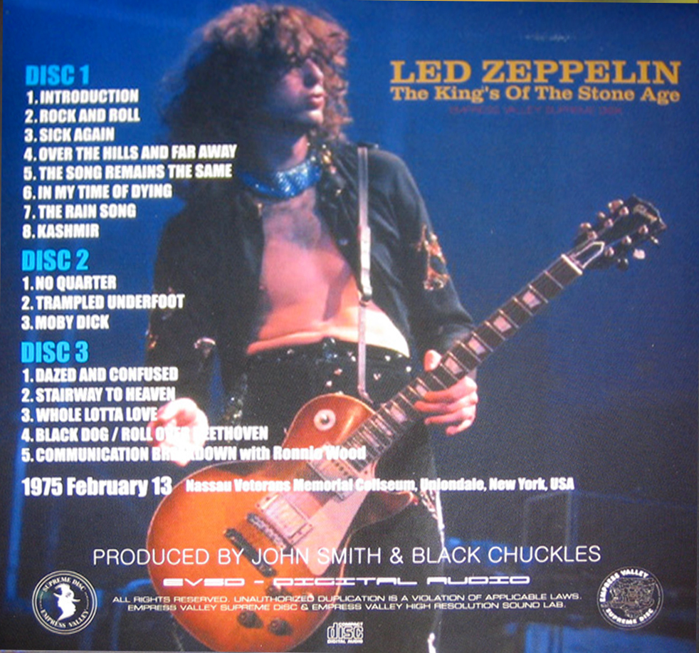 RELIQUARY: Led Zeppelin [1975 02 13] The King's Of The Stone
