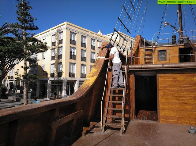 El Ayuntamiento de Santa Cruz de La Palma pone a punto el Barco de la Virgen para las fiestas lustrales